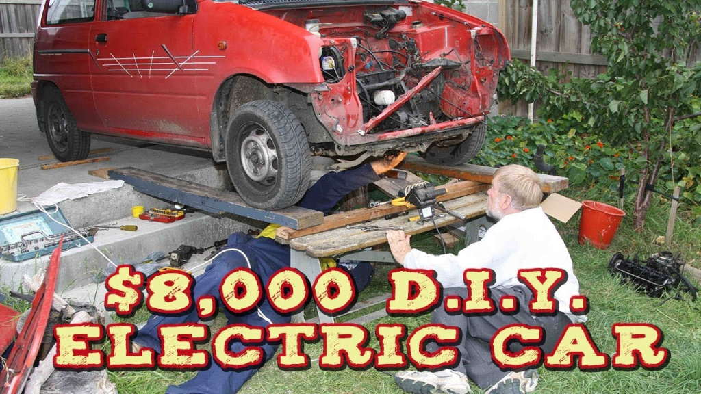 Warren Boyles' homemade electric $8000 electric car     - Tasmanian