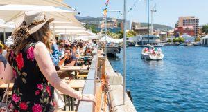 Taste of Tasmania waterside tables