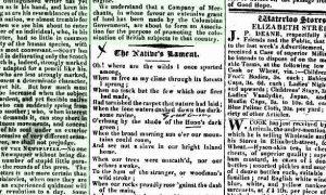 image of newspaper 5 May 1826