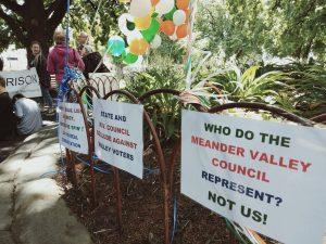 Westbury protest